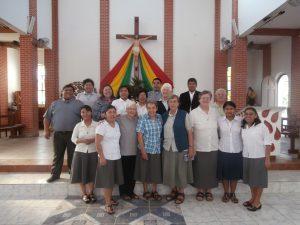 Visitation in Bolivien Schwestern und Patres