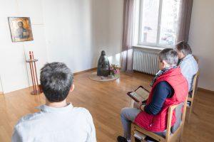 Zusammen beten in der Kloster WG