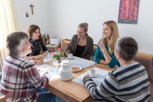 Zusammen leben in der Kloster WG